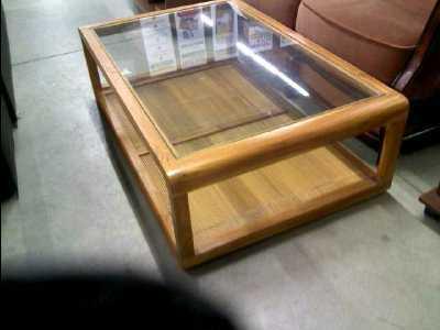 table basse dessus verre d 39 occasion. Black Bedroom Furniture Sets. Home Design Ideas