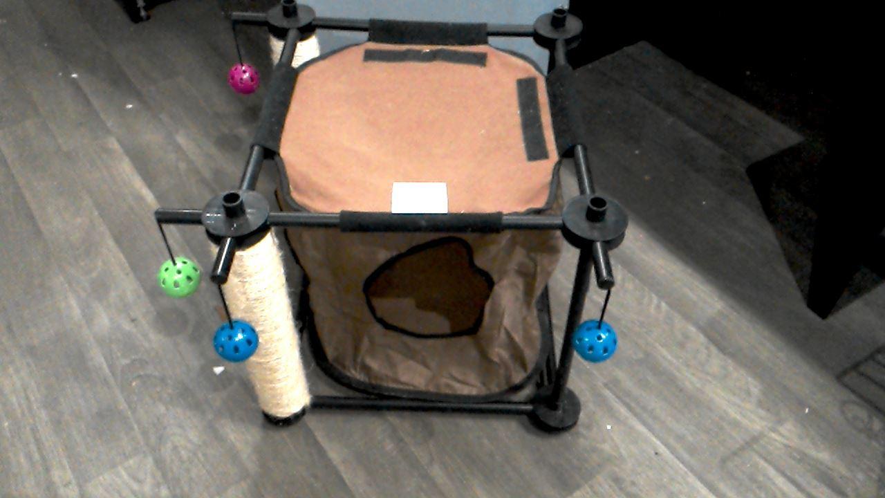 arbre a chat cabane d 39 occasion. Black Bedroom Furniture Sets. Home Design Ideas