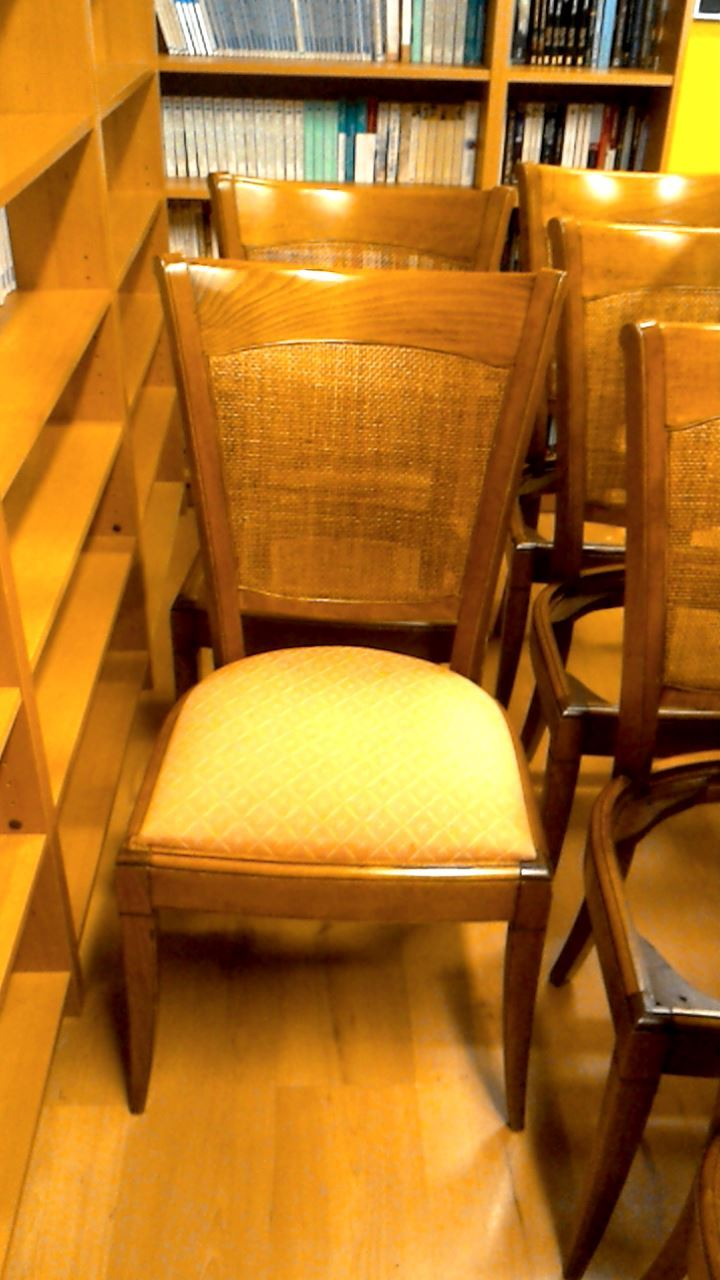 chaise dossier canne meriser d 39 occasion. Black Bedroom Furniture Sets. Home Design Ideas