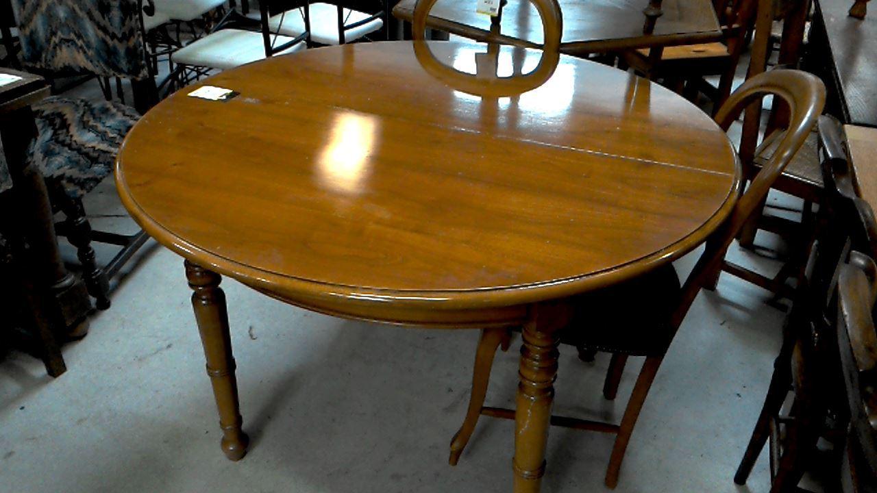 table ronde merisier 2 allonges d 39 occasion. Black Bedroom Furniture Sets. Home Design Ideas