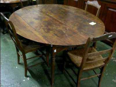 Table ovale ancienne d 39 occasion for Table ovale ancienne