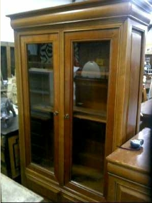 vitrine bibliotheque style louis philippe d 39 occasion. Black Bedroom Furniture Sets. Home Design Ideas