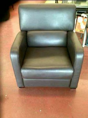 Fauteuil relax simili cuir marron d 39 occasion - Fauteuil relax cuir marron ...