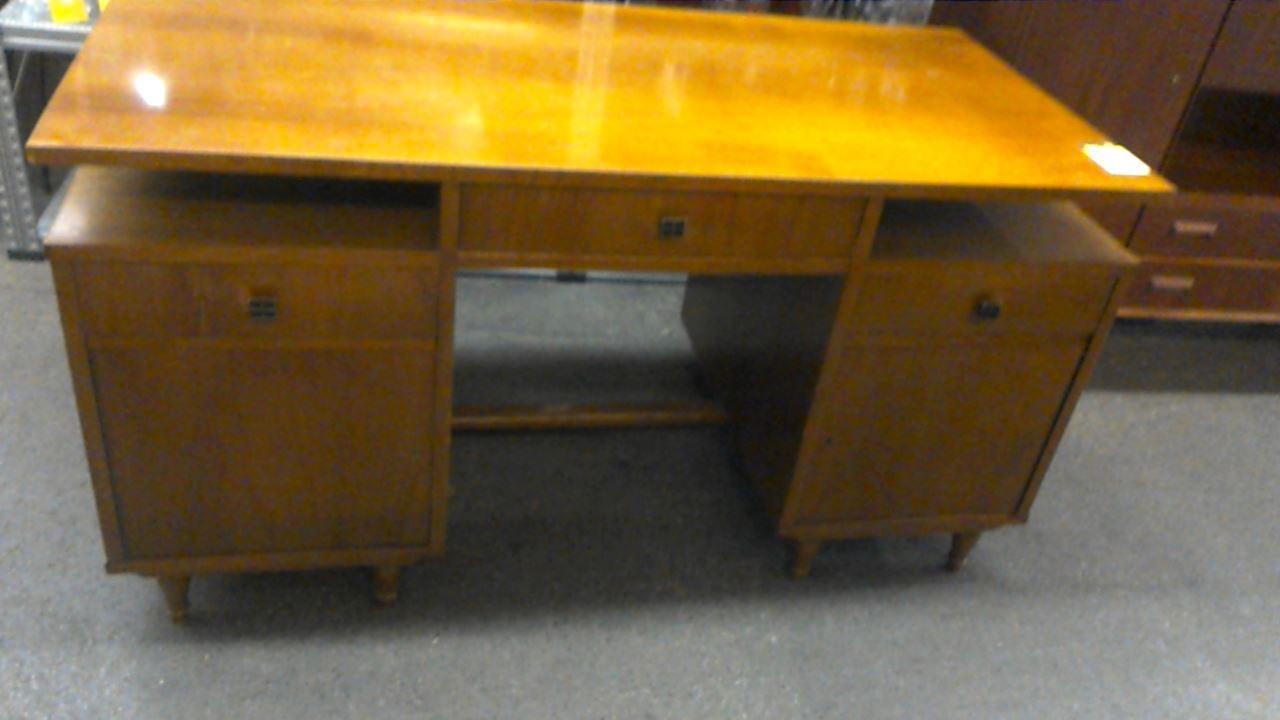 Bureau bois 2 portes 3 tiroirs doccasion troc.com