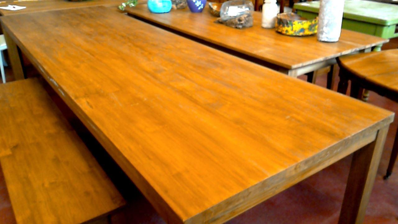 Table de salle a manger teck gebraucht for Table de salle a manger 4 metres